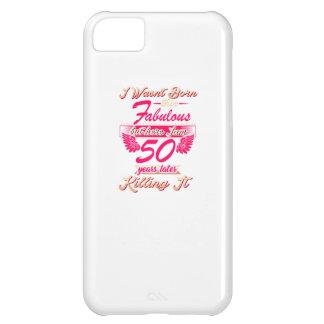 Cute 50th year birthday party gift tshirt iPhone 5C case