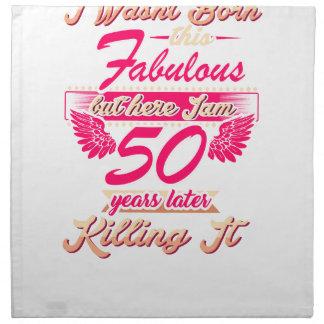 Cute 50th year birthday party gift tshirt napkin