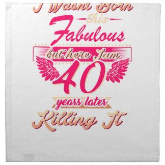 Cute 65th year birthday party gift tshirt napkin