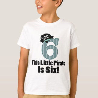 Cute 6th Birthday Pirate Shirt For Boys