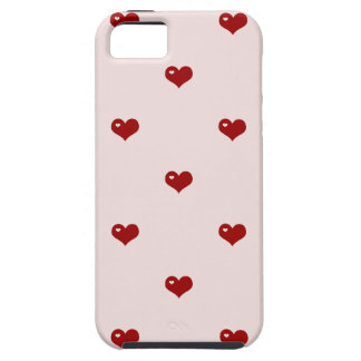 Cute 80s hearts red hot candy heart girly pattern iPhone 5 cover