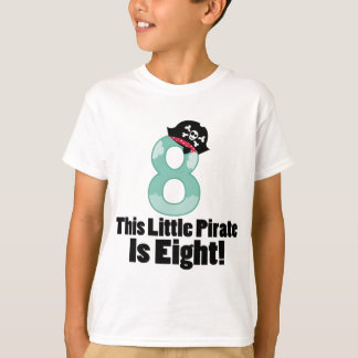 Cute 8th Birthday Pirate Shirt for boys