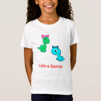 Cute-a-saurus kids shirt for girls