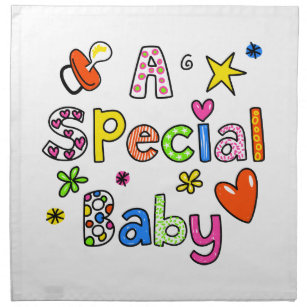 Cute A Special Baby Greeting Text Expression Napkin