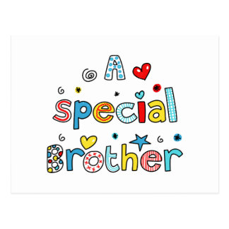 Cute A Special Brother Greeting Text Expression Postcard