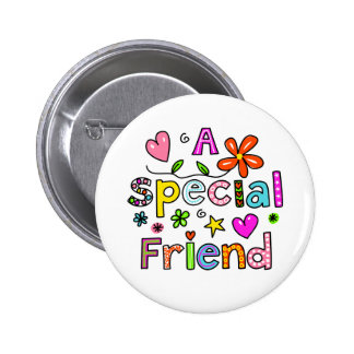 Cute A Special Friend Greeting Text Expression 6 Cm Round Badge