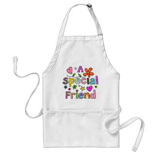 Cute A Special Friend Greeting Text Expression Standard Apron