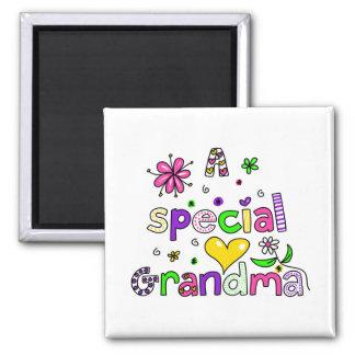 Cute A Special Grandma Granny Text Expression Magnet