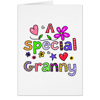 Cute A Special Granny Greeting Text Expression Greeting Card