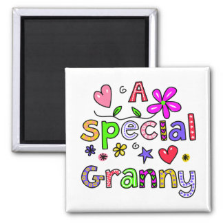 Cute A Special Granny Greeting Text Expression Square Magnet