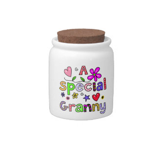 Cute A Special Granny Greeting Text Expression Candy Dish