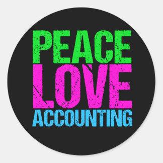 Cute Accountant Round Sticker