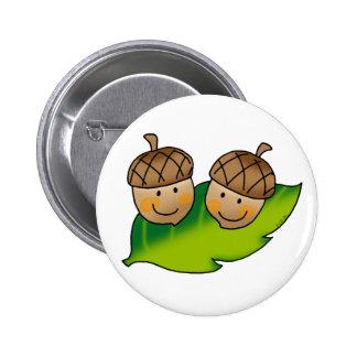 cute acorns pin