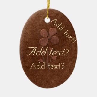 Cute Add Text Holiday Wedding Gardener Copper Ceramic Ornament