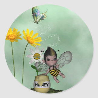 Cute Adorable Baby Bumble Bee Honey Stickers