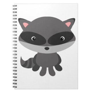 Cute, adorable baby raccoon notebooks