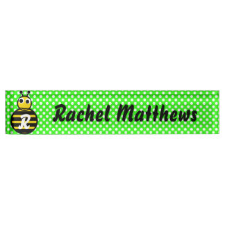 Cute Adorable Bumble Bee Monogram Name Plate