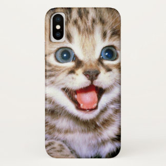 Cute Adorable Fluffy Kitten iPhone X Case