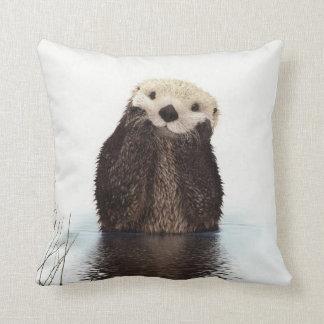 Cute adorable fluffy otter animal cushion