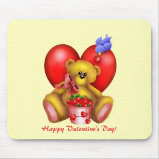 Cute Adorable Heart Bear 1 Mouse Pads