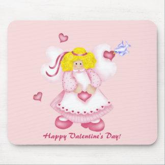Cute Adorable Hearts Angel 1 Mouse Mat