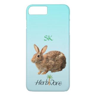 Cute Adorable Herbivore Bunny Custom Vegan iPhone 7 Plus Case