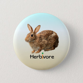 Cute Adorable Herbivore Vegan Wild Bunny Ice Blue 6 Cm Round Badge