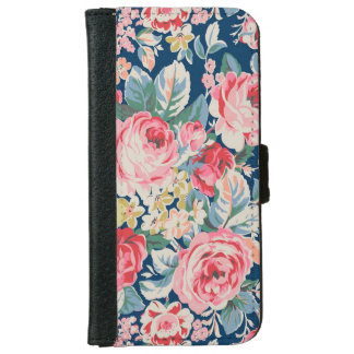 Cute Adorable Modern Blooming Flowers iPhone 6 Wallet Case