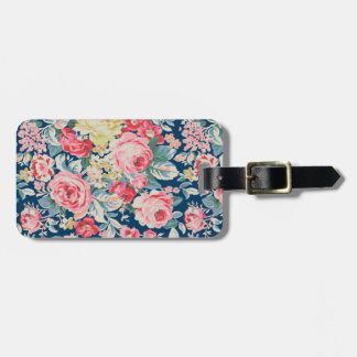 Cute Adorable Modern Blooming Flowers Luggage Tag