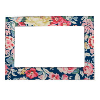 Cute Adorable Modern Blooming Flowers Magnetic Frame