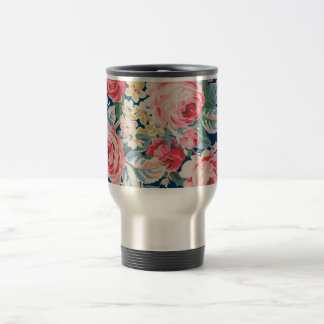 Cute Adorable Modern Blooming Flowers Travel Mug