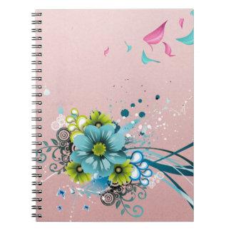Cute Adorable Modern  Flowers Notebooks