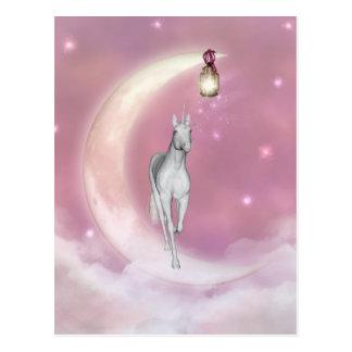 Cute Adorable Mystical Unicorn Post Card