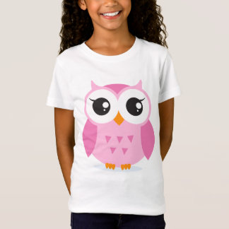 Cute adorable pink owl animal cartoon for kids T-Shirt