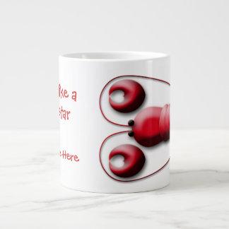 Cute Adorable Red Lobster Heart-Shaped Pincers Jumbo Mug