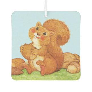 Cute Adorable Squirrel Acorns Nuts Car Air Freshener