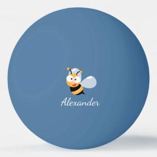 Cute Adorable Sweet Bumble Bee Cartoon Ping Pong Ball