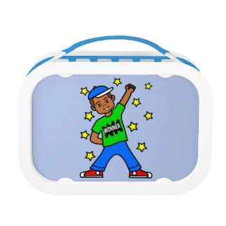Cute African American Boy Winner Lunch Box