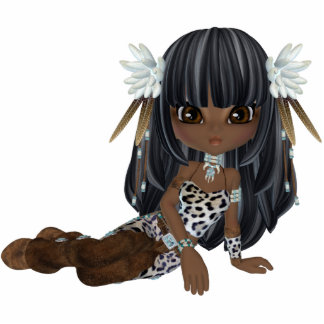 Cute African American Girl Magnet Cut Outs