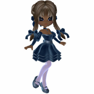 Cute African American Girl Magnet Standing Photo Sculpture