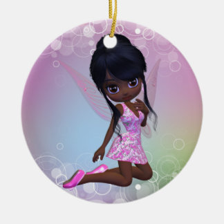 Cute African American Girl Ornament