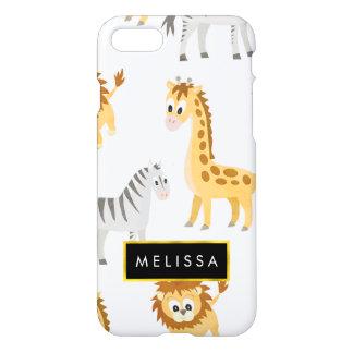 Cute African Baby Animals Safari Theme iPhone 8/7 Case
