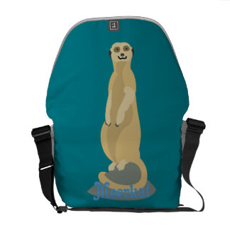Cute African Meerkat standing upright atop a rock Courier Bags
