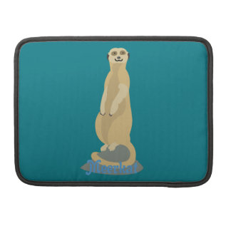 Cute African Meerkat standing upright atop a rock Sleeve For MacBook Pro