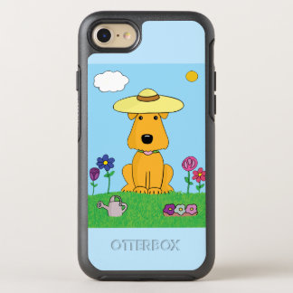 Cute Airedale Dog in Garden iPhone 7 OtterBox