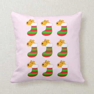 Cute Airedale Puppies w Christmas Stockings Pillow