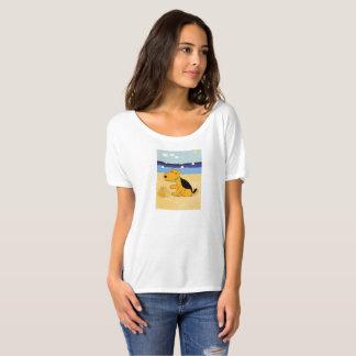 Cute Airedale Terrier Dog at Beach T-Shirt