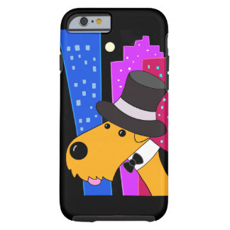 Cute Airedale Terrier Dog in City iPhone 6/6s case