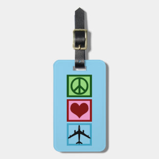 Cute Airplane Pilot Flight Attendant Custom Luggage Tag