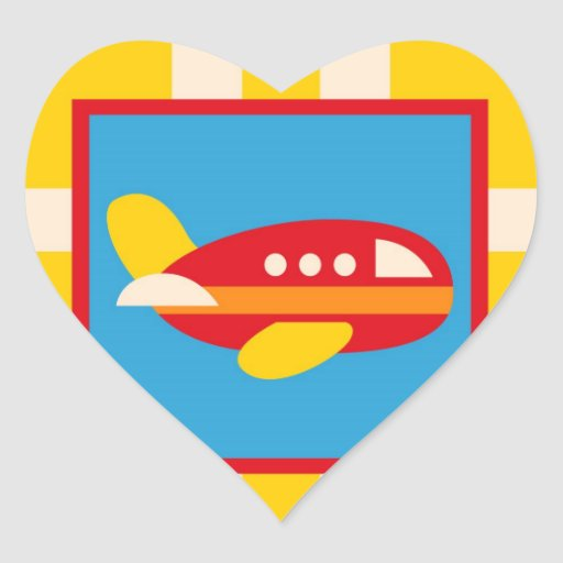 Cute Airplane Transportation Theme Kids Gifts Stickers